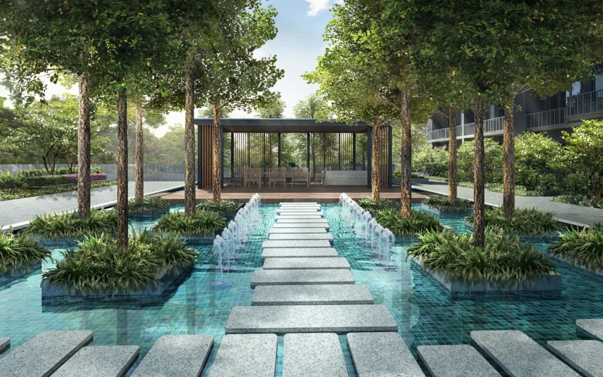 Parc Botannia Fernvale Condo Water Feature